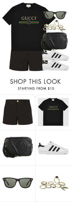 """""""Sin título #12650"""" by vany-alvarado ❤ liked on Polyvore featuring Gucci, adidas and Ray-Ban"""