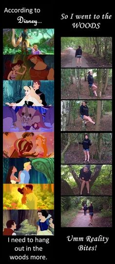 Aah good old Disney teaching us about life :) Today I thought I would take their advice. What Disney fails to inform you is that Prince Charming does not hang out in the woods on a Sunday and if you do happen to find someone, you best be wearing comfortable shoes cause there is a chance he might find you weird and start running away and you need to be able to catch him!