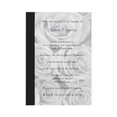 Wedding Vow Renewal Invitation -- Roses. #weddings #customized
