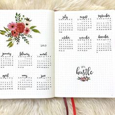 2017 year at a glance for my #bulletjournal ❤️❤️❤️I've decided hustle is my 2017 word. Let's!