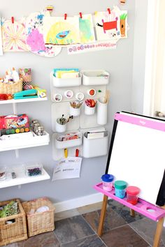 DesignMom.comu0027s Living With Kids: Featuring Megan Schiller And Her Art  Space Usage With