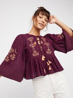 Embroidered Crop Top at Free People Clothing Boutique
