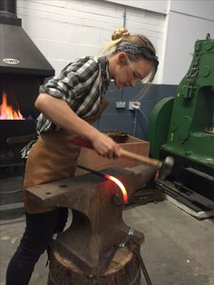 Female Blacksmith. Blacksmithing. Sculpture.