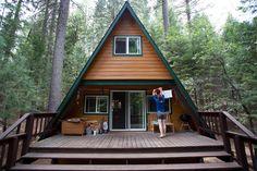 small aframe cabin photo by david nichols