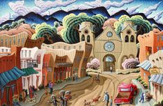 Santa Fe Downtown by Kim Wiggins