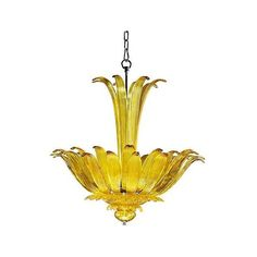 """Moritz 26"""" Wide Yellow Chandelier (4,115 BAM) ❤ liked on Polyvore featuring home, lighting, ceiling lights, hanging chain lights, flower chandelier, hanging chain lamps, chain lighting and chain lamp"""