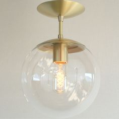 will this work for entry way? Mid Century Modern Semi Flush Clear 8 Globe by SanctumLighting