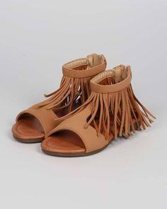 New Girl Jelly Beans Right Nubuck Open Toe Fringe Collar Gladiator Sandal Sz 9-4 #JellyBeans #Strappy