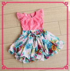 2015 Babies Girls Tutu Chiffon Lace Dresses Kid Girl Ruffled Floral Print Casual Dress Summer Lace Panelled Sundress Cute Sleeveless Dress Online with $9.25/Piece on Smartmart's Store | DHgate.com