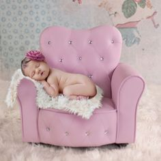 We have a new photography prop for sale! This diamond encrusted tufted chair is a superior piece for the little newborn & toddler girls.