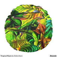 Rest your head on one of Zazzle's Tropical decorative & custom throw pillows. Round Pillow, Tropical Plants, Decorative Throw Pillows, Photoshop, Painting, Animals, Products, Accent Pillows, Animales