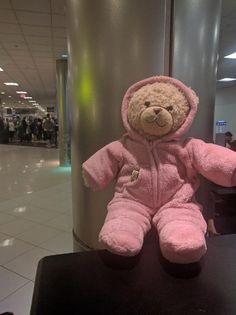 Found on 01 Jul. 2016 @ Atlanta hartsfield airport. Found bear in pink Vermont Teddy Bear pajamas in ATL near Delta gate A26, with a small amount of money in pocket. Clearly a beloved companion looking for his home. Please identify the correct store... Visit: https://whiteboomerang.com/lostteddy/msg/izflx2 (Posted by JC on 25 Jul. 2016)