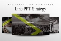 Line PPT Strategy by Good Pello on @creativemarket