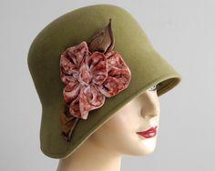 Cloche Hat WomenSpring FashionFall Fashion Winter by KatarinaHats