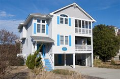 DUCK-N-SEA, #541 l Duck, NC - Outer Banks Vacation Rental Home l Oceanside home with six bedrooms (5 masters), media room with wet bar, screened-in porch, private pool, hot tub, volleyball court, horseshoes and access to community amenities. l www.CarolinaDesigns.com