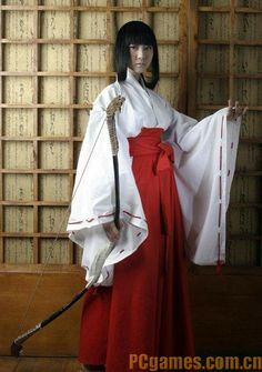 InuYasha Kikyo Kimono Cosplay Costume Custom Made Any Size | eBay