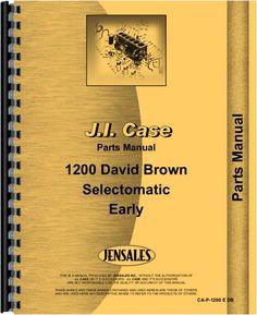 Case 1200 Tractor Parts Manual