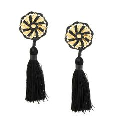 Dsquared2 spiral tassel earrings ($170) ❤ liked on Polyvore featuring jewelry, earrings, black, spiral earrings, leather earrings, tassle earrings, earring jewelry and dsquared2