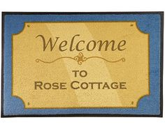 Original Gift Company Plaque Mat, Blue, Polyproplylene Our entry mat mimics a posh brass plaque and gives a personalised welcome to your home. Printed with the word 'Welcome' and personalised (style as shown) with up to 22 characters incl. spaces on each  http://www.MightGet.com/february-2017-2/original-gift-company-plaque-mat-blue-polyproplylene.asp