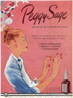 Peggy Sage nail polish, 1949