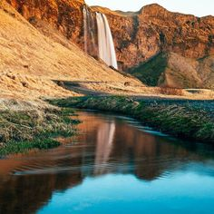 #Seljalandsfoss is a unique waterfall in the south of #Iceland. It stands at 60 metres high and if you're daring enough you can walk behind it! Thanks @georgetheexplorer for sharing using #bbctravel. by bbc_travel