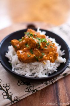 Slow Cooker Butter Chicken from Living Lou [via Slow Cooker from Scratch] #SlowCooker
