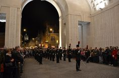 Last Post Association, Ieper, Belgium. The Last Post, the traditional final salute to the fallen, is played by the buglers in honour of the memory of the soldiers of the former British Empire and its allies, who died in the Ypres Salient during the First World War.