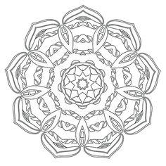 Mandala Coloring Page #31
