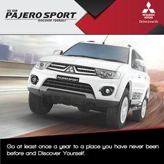 The new Pajero Sport - Shakti Motors  Discover yourself   #PajeroSport #MitsubishiPajeroSport