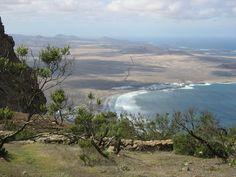 Cliff top view of Famara, Lanzarote, Canary Islands