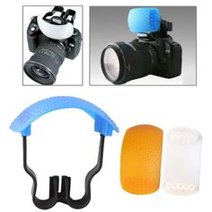 [USD0.96] [EUR0.91] [GBP0.70] Pop-up Flash Soft Flash Diffuser Kit (White Diffuser / Blue Diffuser / Orange Diffuser / Diffuser Bracket)
