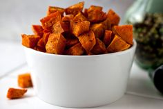 Here, coconut oil deepens the natural caramelized flavor of roasted sweet potatoes, and it adds a delicate coconut essence Brown sugar and nutmeg sweeten the dish, and a dash of black pepper makes it for adults It's just delicious.