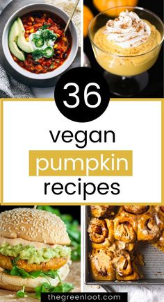 These tasty vegan pumpkin recipes are perfect for Fall and Thanksgiving.  Cozy and healthy dinner and dessert ideas for this Autumn season. | The  Green Loot