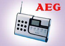 Hallgasd kedvenc slágereid: LCD kijelzős, elemmel működő, AEG digitális zsebrádió, amely tökéletes utazáshoz