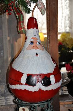 Christmas Painted Gourds | Hand Painted Gourd | Christmas Joys