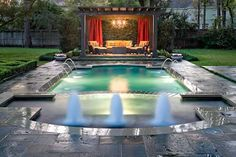 backyard landscaping with pool - Google Search