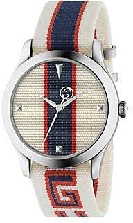 Beautiful Gucci G-Timeless Nylon Strap Watch, Mens accessories from top store Big Watches, Sport Watches, Luxury Watches, Cool Watches, Watches For Men, Rolex Watches, Nylons, Gucci Watch, Swiss Made Watches