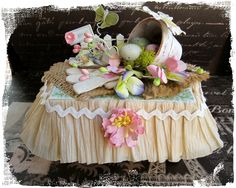 from over the rainebeau -- embellished egg carton!