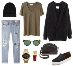 Cozy, comfy casual day // outfit collage by studded hearts