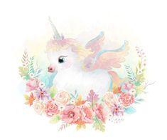 Alfabeto de Unicornio Bebé.