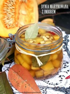 Bernika - mój kulinarny pamiętnik: Marynowana dynia z imbirem i chilli