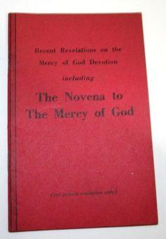 1955 Novena Mercy of God Revelation Devotion Vtg Marian Catholic Prayer Booklet