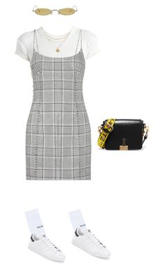 """Untitled #8"" by yasminhxo ❤ liked on Polyvore featuring Alexander Wang, Balenciaga, adidas, Off-White and Gentle Monster"