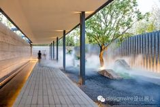 HOMES - Residential Interiors for Home Design Professionals Light Architecture, Landscape Architecture, Landscape Design, Architecture Design, Asian Landscape, Residence Senior, Architectural Lighting Design, Covered Walkway, Patio Interior
