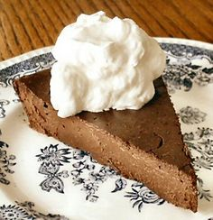 Chocolate truffle torte...low-carb, but still one of the best desserts I've ever made