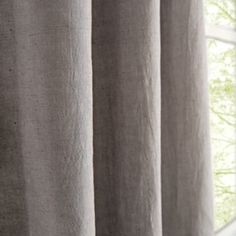 Fresh Linen Curtains (Grey) | The Land of Nod