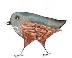 Bird No.38 - Watercolor Bird Art Print Limited Edition - Original Painting by Lorisworld