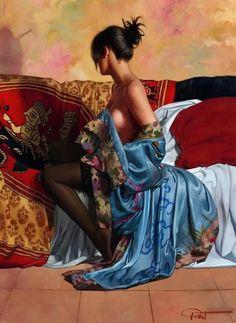 Fine Art and You: Beautiful Figurative Paintings by Gabriel Picart Woman Painting, Figure Painting, Art Beauté, Dante Gabriel Rossetti, Hyper Realistic Paintings, Photographie Portrait Inspiration, Painted Ladies, Fine Art, Erotic Art