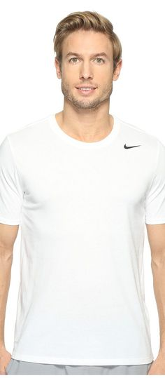 Nike Dri-FIT Version 2.0 T-Shirt (White/White/Black) Men's T Shirt - Nike, Dri-FIT Version 2.0 T-Shirt, 706625-100, Apparel Top Shirt, T Shirt, Top, Apparel, Clothes Clothing, Gift, - Fashion Ideas To Inspire