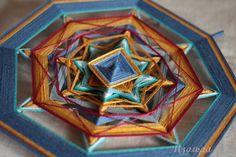 "Mandala Ojos de Dios ""Gold on blue"" By Isolda Mandalas (Tatiana Slinka)"